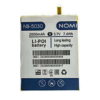 Аккумулятор Nomi NB-5030 (PL306277) для i5030 Evo X (2000 мА*ч) оригинал