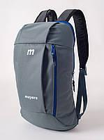 Молодежный рюкзак в школу для подростков MAYERS 10L, серый. Спортивный рюкзак унисекс