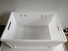 Пластиковый контейнер для продуктов Полимерцентр 600х400х300мм б/у, фото 3