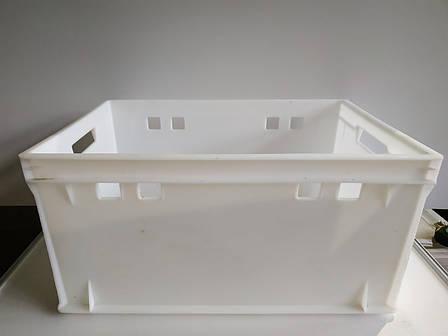 Пластиковый контейнер для продуктов Полимерцентр 600х400х300мм б/у, фото 2
