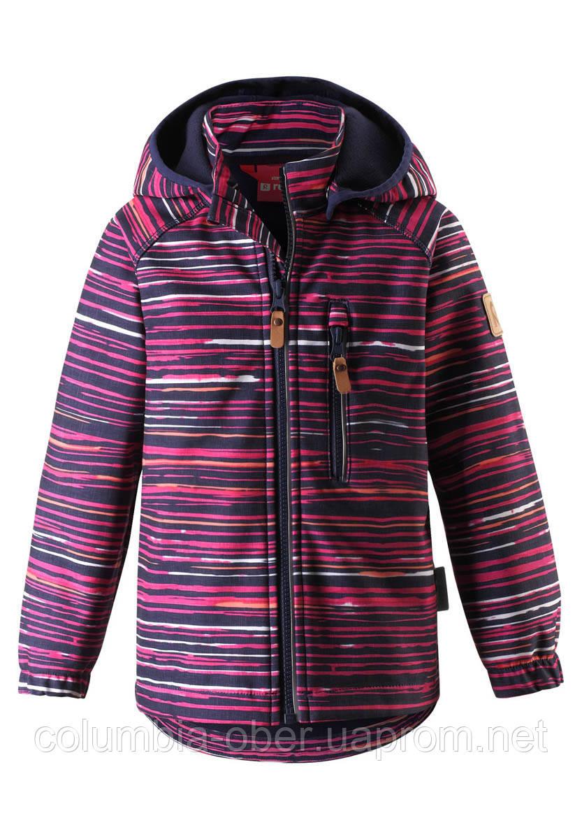 Демисезонная куртка для девочки Reima Softshell Vantti 521569.9-4961. Размеры 92 - 140.