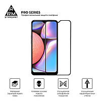 Защитное стекло для Samsung A30 (A305)/A50 (A505) Black  (Полный клей)