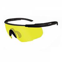 Очки  тактические Wiley X SABER ADV. Yellow Matte w/Bag Black