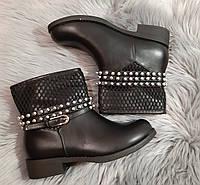 24,5 см Ботинки женские деми черные на низком ходу, низкий ход, демисезонные, фото 1