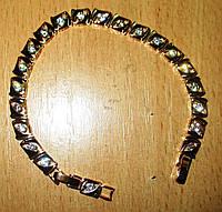 """Позолоченный    браслет   """"Квадратики"""" от студии LadyStyle.Biz, фото 1"""