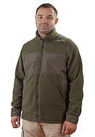 Оливковая флисовая куртка для мужчин (размеры М-3XL) 2XL