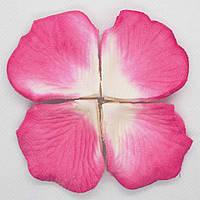 Искусственные лепестки роз SoFun бело-малиновые 140 шт