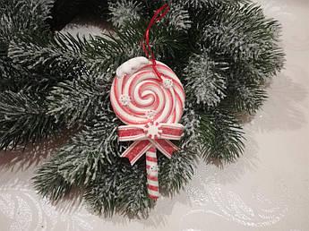 Новогоднее украшение. Новогодний леденец.