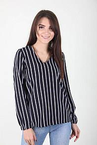 Прямая женская блуза в полоску
