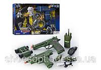 Детский набор полицейский, военный: свет, звук, пистолет, часы, фото 1