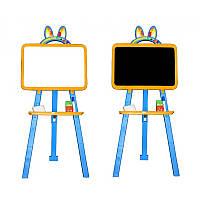 Доска для рисования Фламинго  магнитная  (Желто-голубая) 1326