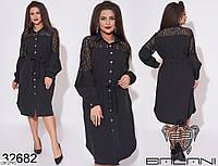 Оригинальное платье-рубашка на пуговицах спереди 48 -54 размера