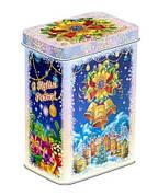 Подарки в жестяной упаковке на вес 300 - 600г