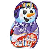 Адвент календарь Milka Snow Mix Adventskalender веселый снеговик, 235 грамм, фото 2