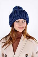 Теплая шапка с отворотом