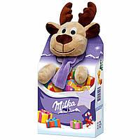 Новогодний подарок ребенку Milka Plüschtier Magic Mix Elch (мягкая игрушка со сладостями), 133 гр.