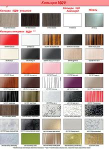 Цветовая палитра МДФ плиты для изготовления мебели для гостинной, спальни, прихожей,кухни