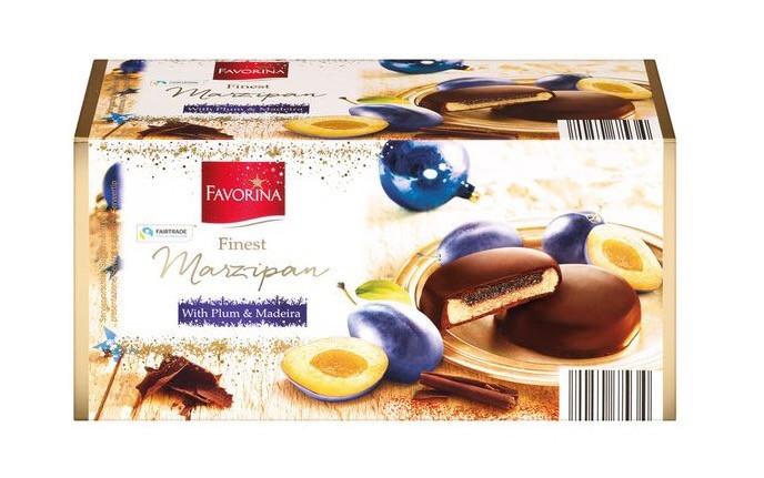 Марципан в шоколаде Favorina Finest Marzipan With Plum&Madeira со сливовым джемом, 300 г