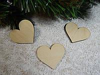 "Декоративная добавка из дерева ""Сердце"" 4*4,5см, деревянный мини декор"