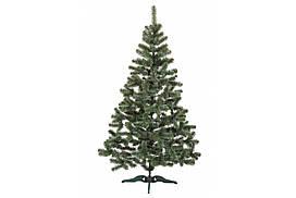 Искусственная ель Сказка 1 метр, белые кончики зеленая, ширина 67 см