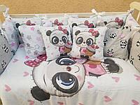 """Детское постельное белье в кроватку """"Принт"""", набор постельного белья в детскую кроватку, бортики в кроватку"""