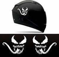 """Виниловые наклейки на мотоциклетный шлем """"Venom"""" 2 шт."""