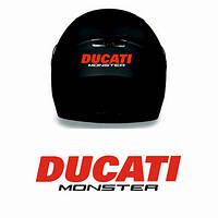 """Виниловые наклейки на мотоциклетный шлем """"Ducati monster"""""""