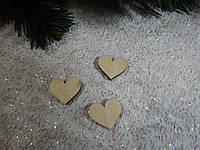 "Декоративная добавка из дерева ""Сердце"" 1,8*2см, деревянный мини декор"