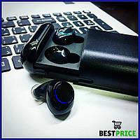 Беспроводные bluetooth наушники в кейсе Tomkas S7 Черные