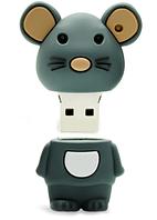 Подарочная Флешка USB накопитель крыса мышь серая 32 гб символ 2020