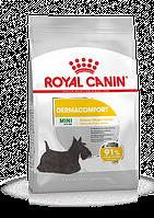 Корм Royal Canin Mini Dermacomfort, при раздражениях кожи и зуде, 1 кг
