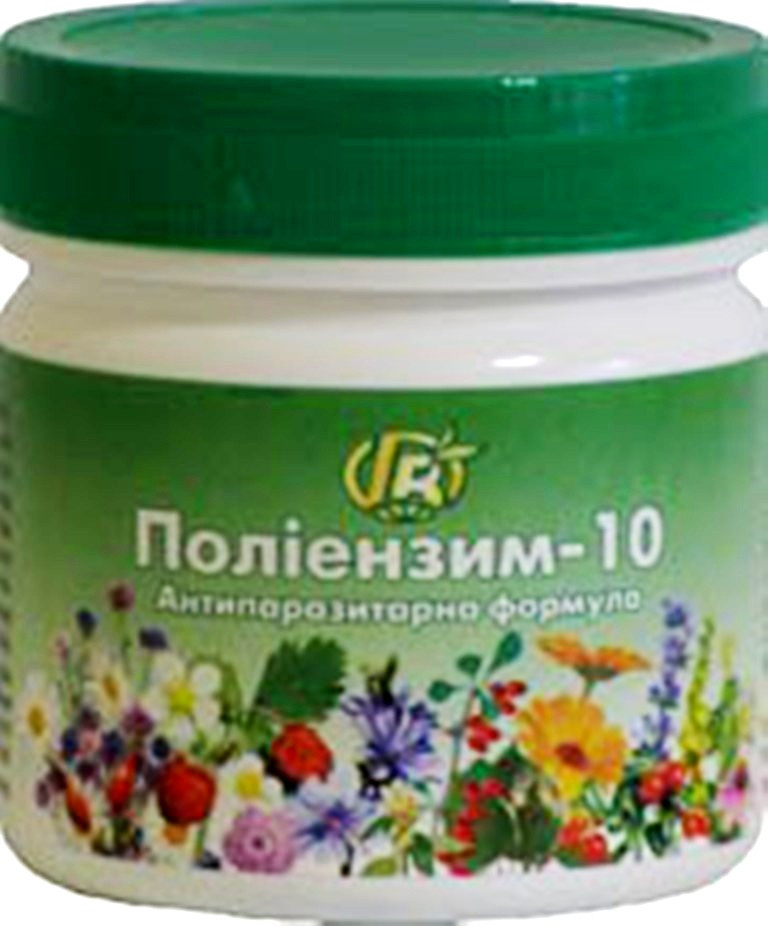 Полиэнзим-10 — 280 г — антипаразитарная формула - Грин-Виза, Украина