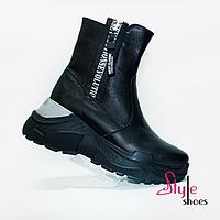 Женские ботинки из высококачественной кожи, фото 1