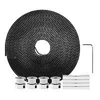 TWO TREES® 5M GT2 Timing Ремень + 4Pcs 20Seat Timing Ремень Шкивы + 4Pcs Монтажные блоки Набор с шестигранным ключом для 3D принтера Reprap / Prusa /