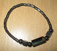 Гематитовый браслет со вставками соколиного глаза