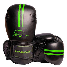 Боксерські рукавиці 3016 Чорно-Зелені 12 унцій R144157