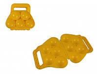 Снежколеп Snowball  Merry Christmas  игрушка для песка и снега в форме Шарик 5в1  Желтый 1534