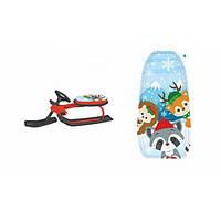 Детский снегокат  Merry Christmas Санки с рулем  107 х 49 х 38 см Мультяшные Красные с черным 1566-2