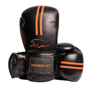 Боксерські рукавиці 3016 Чорно-Оранжеві 12 унцій R144159
