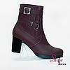 Стильные ботинки женские кожаные