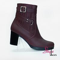 Стильные ботинки женские кожаные, фото 1