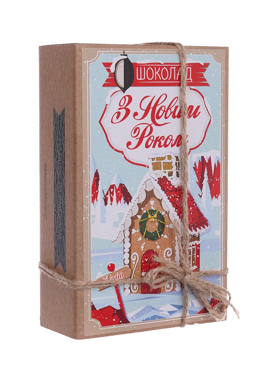 Шоколадный набор Shokopack Крафт з Новим роком 20 х 5 г Молочный