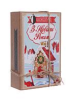 Шоколадный набор Shokopack Крафт з Новим роком 20 х 5 г Молочный, фото 1