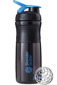 Бутылка-шейкер спортивная BlenderBottle SportMixer 820ml Black-Cyan, original R144859