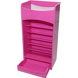 Вертикальный органайзер для косметики Cosmake Lipstick And Nail Polish розовый R187046
