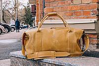 Коричневая спортивная сумка, Стильная дорожная мужская кожаная сумка, фото 1