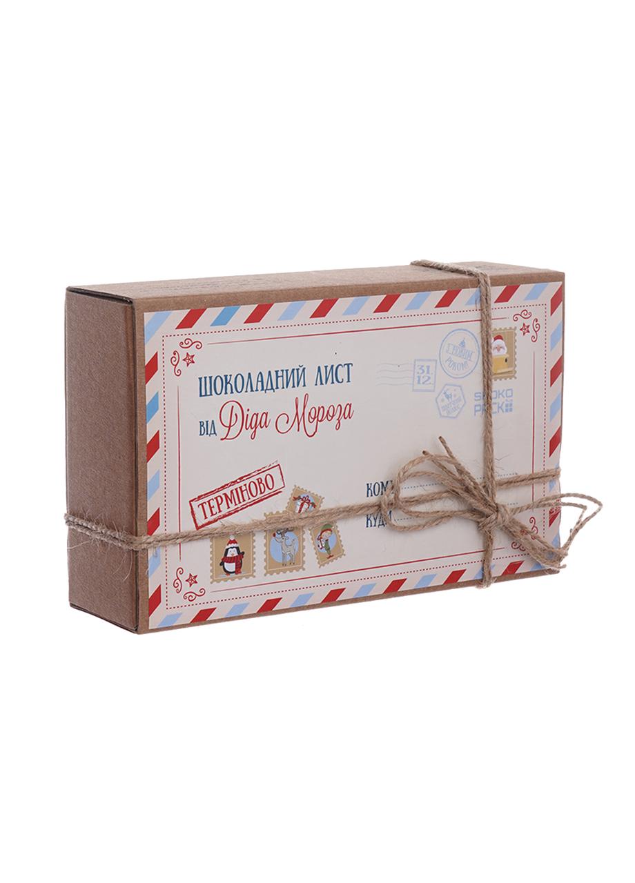 Шоколадный набор Shokopack Крафт- лист від Діда Мороза 20 х 5 г Молочный