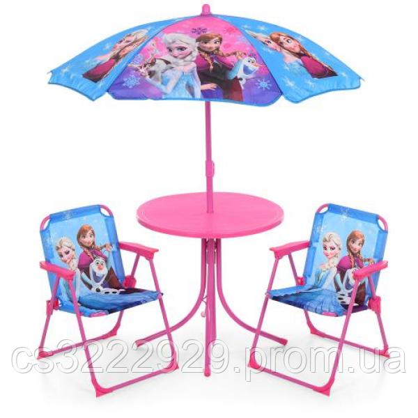 Детский Столик с 2 стульчиками и зонтом 93-74-FR