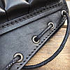 Патронташ на приклад 6 патронов гладкоствольных на шнуровке Черный (кожа), фото 3