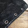 Патронташ на приклад 6 патронов гладкоствольных на шнуровке Черный (кожа), фото 5